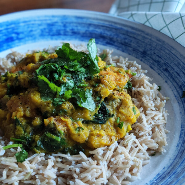 Sweet Potato & Spinach Dahl recipe