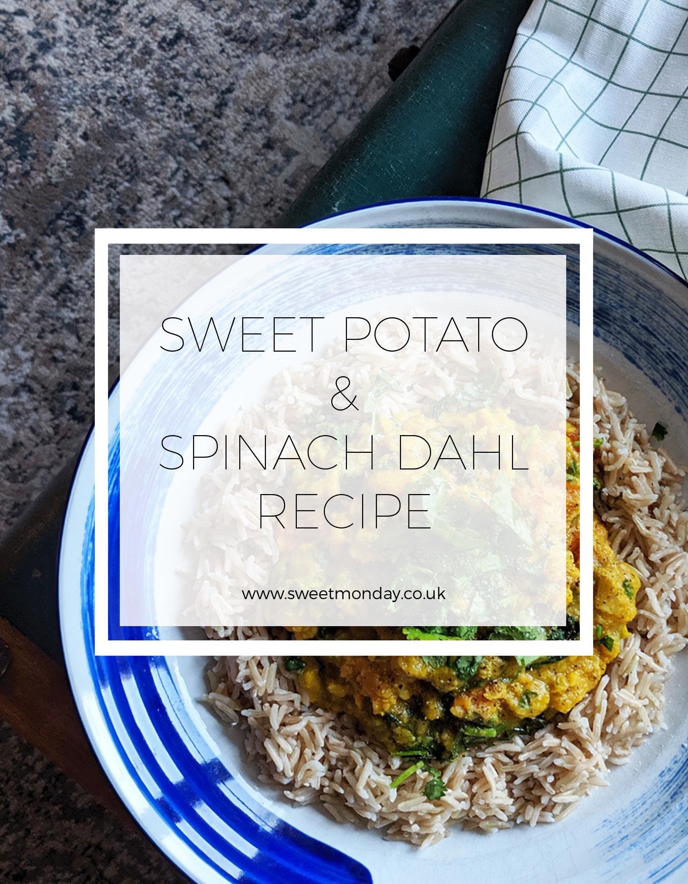 Sweet Potato & Spinach Dahl recipe